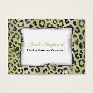 Leopard Skin in Lime Chartreuse Business Card