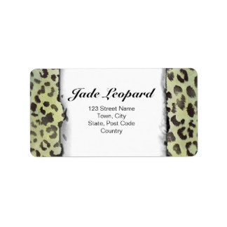 Leopard Skin in Lime Chartreuse Labels