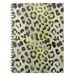 Leopard Skin in Lime Chartreuse Spiral Notebook