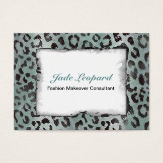 Leopard Skin in Minty Jade Business Card