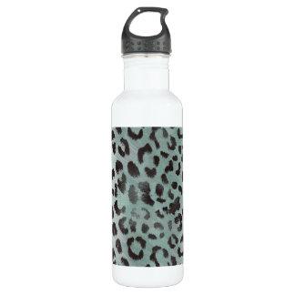 Leopard Skin in Minty Jade Stainless Steel Water Bottle