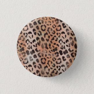 Leopard Skin in Tangerine Apricot Button