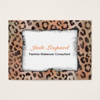 Leopard Skin in Tangerine Apricote Business Card