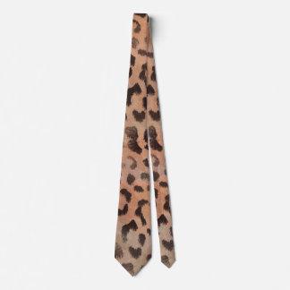 Leopard Skin in Tangerine Apricote Neck Tie
