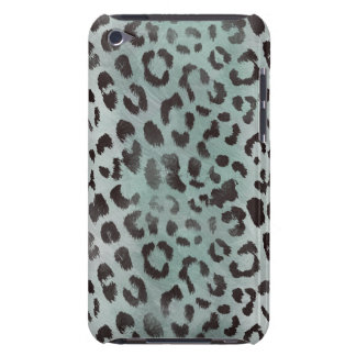 Leopard Skin in Tangerine Blue Sea Barely There iPod Cover