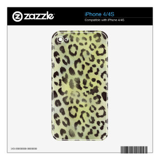 Leopard Skin in Tangerine Lime Green iPhone 4S Decals