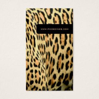 Leopard skin, life animal business cards