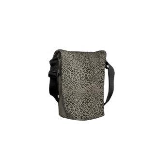 Leopard Skin Look  Exotic Animal Print Messenger Bag