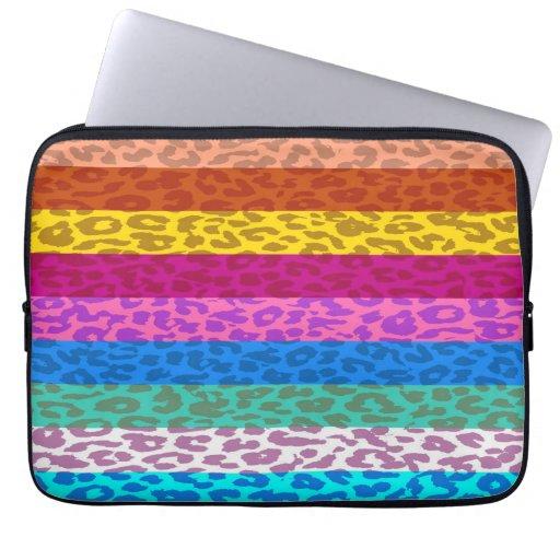 Leopard Skin Multicolor Stripe Pattern 2 Computer Sleeves
