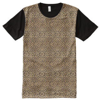 Leopard Skin Pattern All-Over-Print T-Shirt