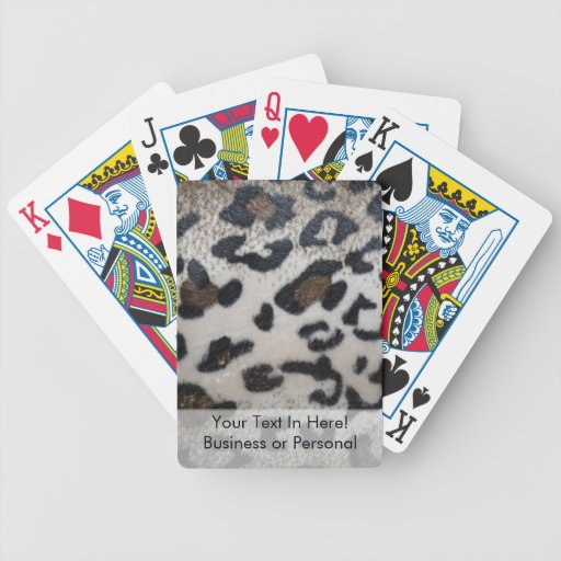 Leopard skin pattern bicycle poker cards