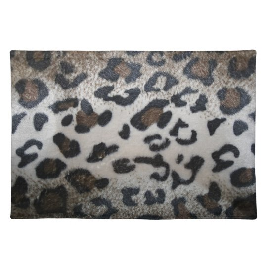 Leopard skin pattern cloth placemat
