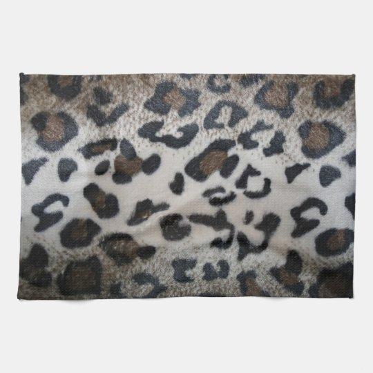 Leopard skin pattern hand towel
