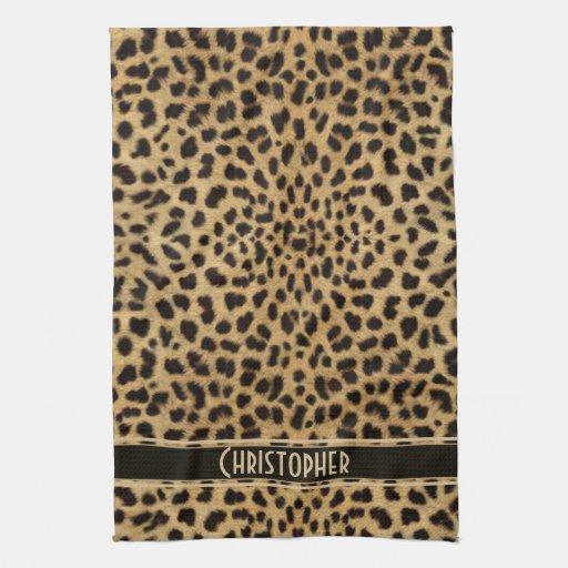 Leopard Skin Pattern Hand Towels Zazzle