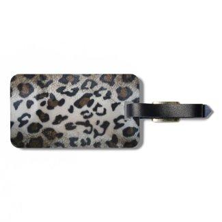 Leopard skin pattern luggage tags