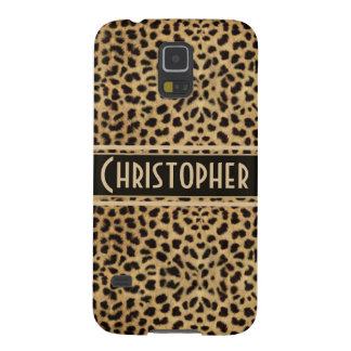 Leopard Skin Pattern Personalize Galaxy S5 Cases