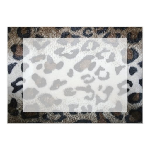 Leopard skin pattern personalized announcement