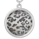Leopard skin pattern personalized necklace