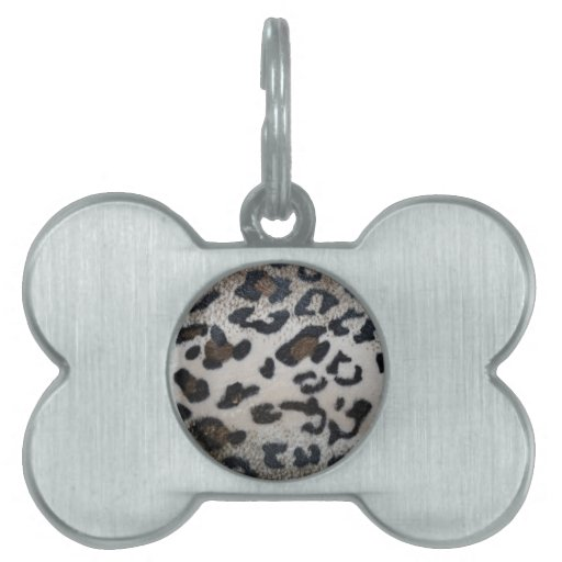 Leopard skin pattern pet ID tags