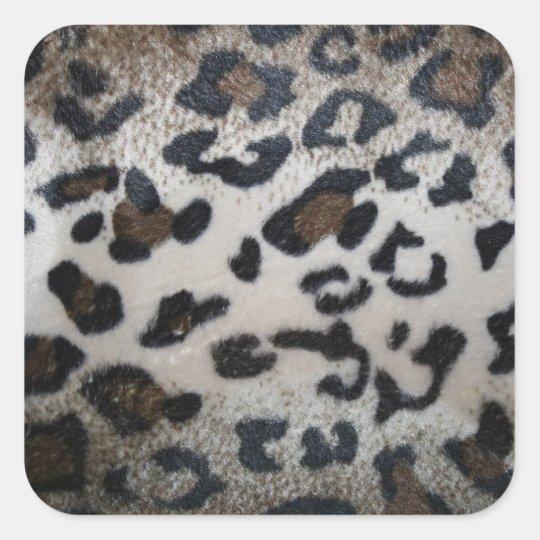 Leopard skin pattern square sticker