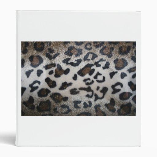 Leopard skin pattern vinyl binder