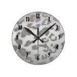 Leopard skin pattern wallclocks