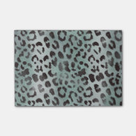 Leopard Skin Print in Jade Post-it&#174; Notes (<em>$10.80</em>)