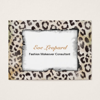 Leopard Skin Print  in Natural Ivory Business Card