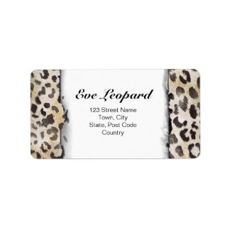 Leopard Skin Print  in Natural Ivory Personalized Address Labels