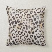 Leopard Skin Print  in Natural Ivory Throw Pillow (<em>$38.90</em>)