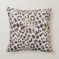 Leopard Skin Print  in Natural Ivory Throw Pillows (<em>$40.95</em>)