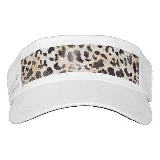 Leopard Skin Print  in Natural Ivory Visor