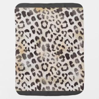 Leopard Skin Print in Natural Ivory Swaddle Blanket