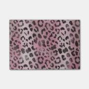 Leopard Skin Print in Pink Rose Post-it&#174; Notes (<em>$10.80</em>)