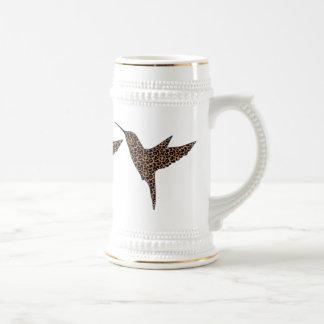 Leopard Skin Spots Hummingbird Beer Stein