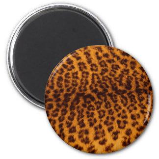 Leopard skin texture fridge magnets