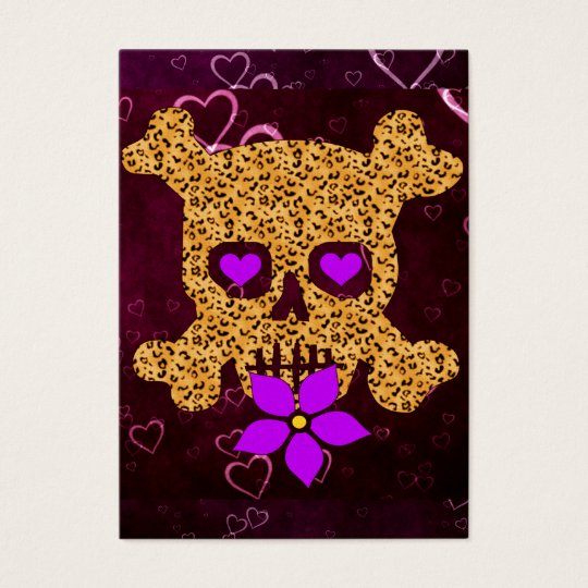 Leopard Skin Valentine Business Card