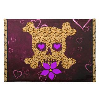 Leopard Skin Valentine Cloth Placemat