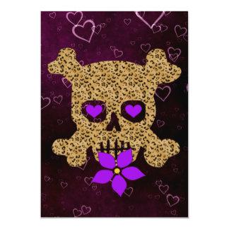 Leopard Skin Valentine 5x7 Paper Invitation Card
