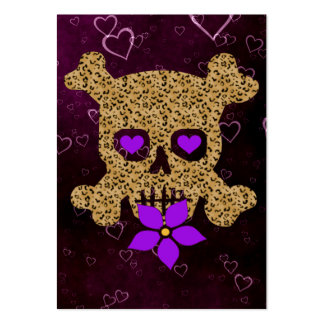 Leopard Skin Valentine Large Business Card