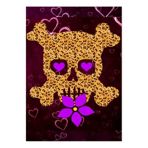 Leopard Skin Valentine Large Business Cards (Pack Of 100)