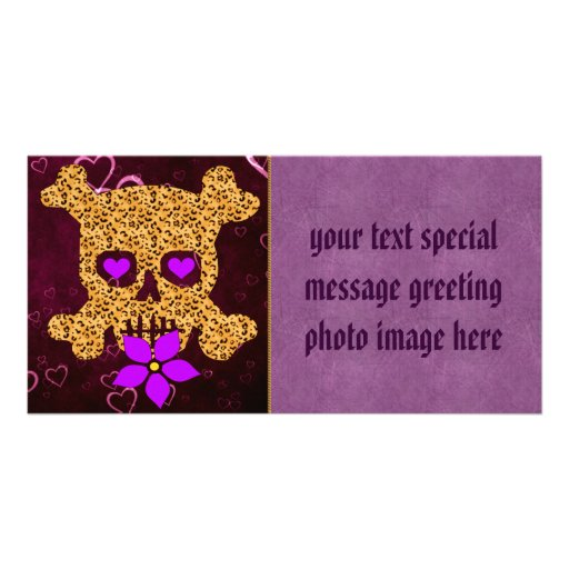 Leopard Skin Valentine Photo Card