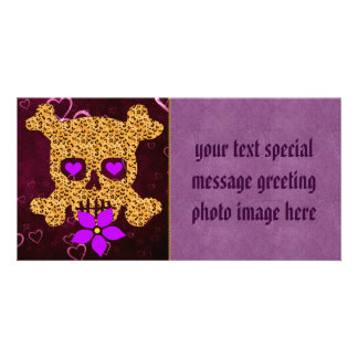 Leopard Skin Valentine Personalized Photo Card