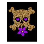 Leopard Skin Valentine Postcard
