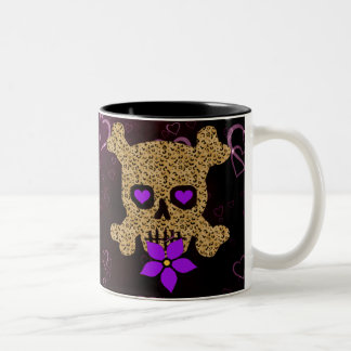 Leopard Skin Valentine Two-Tone Coffee Mug
