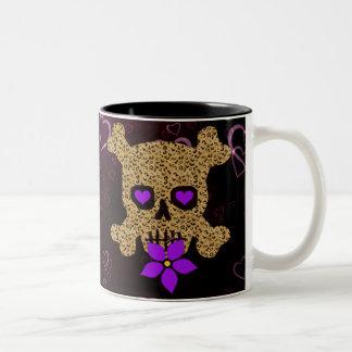 Leopard Skin Valentine Two-Tone Coffee Mug