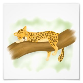 Leopard Sleeps Art Print