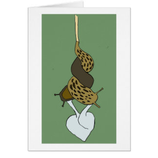 Leopard Slug Love Greeting Card