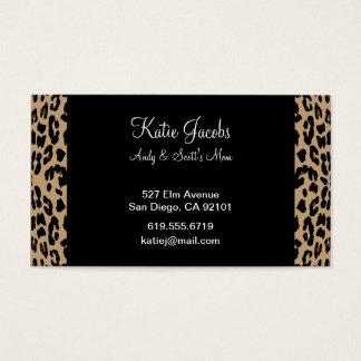 Leopard Social Calling Cards