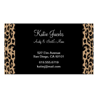 Leopard Social Calling Cards Double-Sided Standard Business Cards (Pack Of 100)